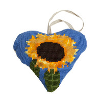 Sunflower Lavender Heart Tapestry Kit by Cleopatra