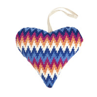 Blue Bargello Tapestry Heart Kit by Cleopatra
