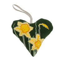 Daffodil Lavender Heart Tapestry Kit by Cleopatra