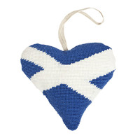Scottish Saltire Lavender Heart Tapestry Kit by Cleopatra
