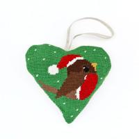 Robin Lavender Heart Tapestry Kit by Cleoptara