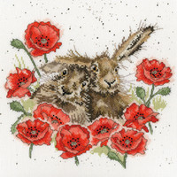 Love is in the Hare Cross Stitch Kit by Bothy threads