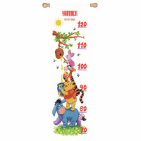 Counted Cross Stitch Kit: Height Chart: Disney: Winnie and Friends By Vervaco