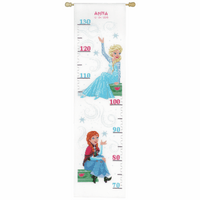 Counted Cross Stitch Kit: Height Chart: Disney: Frozen - Sisters Forever By Vervaco