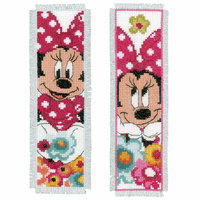 Counted Cross Stitch Kit: Bookmarks: Disney: Minnie - Daydreaming (Set of 2) By Vervaco