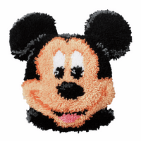 Latch Hook Kit: Shaped Rug: Disney: Mickey Mouse By Vervaco