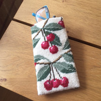 Cherries on Cream Tapestry Spectacles Cases By Cleopatra