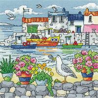 Geranium Shore Cross Stitch Kit by Heritage Crafts