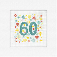 60 Greeting Card Cross Stitch Kit by Heritage