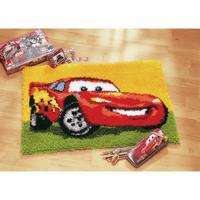 Latch Hook Kit: Rug: Disney: Lightning McQueen