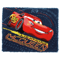 Latch Hook Kit: Rug: Disney: Cars: Screeching Tires