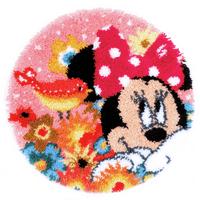 Latch Hook Kit: Shaped Rug: Disney: Minnie: Psst I've a Secret