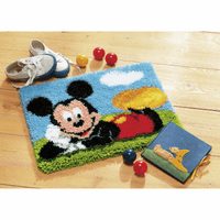 Latch Hook Kit: Rug: Disney: Mickey Mouse