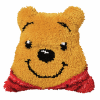 Latch Hook Kit: Shaped Cushion: Disney: Winnie The Pooh By Vervaco