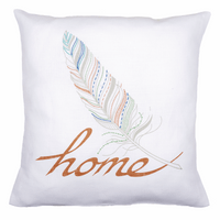 Embroidery Kit: Cushion: Feather Home By Vervaco