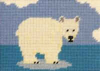Paula Polar Bear Tapestry Kit for Beginners By Cleopatra Needles