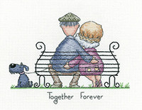 Together Forever Cross stitch Kit by Heritage