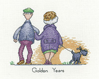 Golden Years Cross Stitch Kit by Heritage