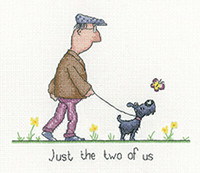 The Two of us Cross Stitch Kit by Heritage