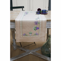 Counted Cross Stitch Kit: Runner: Lavender By Vervaco