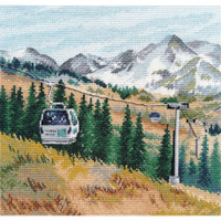 Mount Chimbulak Cross Stitch Kit by Oven