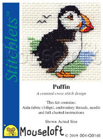 Puffin  Stitchlet Cross stitch Kit by Mouseloft