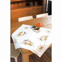 Embroidery Kit: Tablecloth: Hummingbird By Vervaco