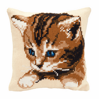 Cross Stitch Kit: Cushion: Kitten by vervaco