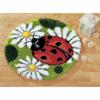 Lady Bug latch Hook Rug Kit by Vervaco