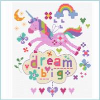 Dream Big cross stitch kit by Vervaco