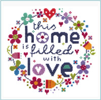 Filled with Love Cross Stitch Kit by Stitching Shed