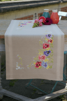 Table Runner Kit: Violets by Vervaco