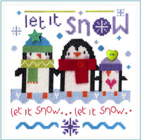 Snowy Penguins Cross Stitch Kit By Stitching Shed
