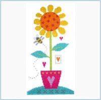 Sunflower Cross Stitch Kit by Stitching Shed