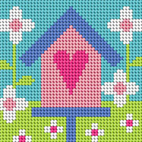 Birdhouse Needlepoint Kit By Stitching Shed