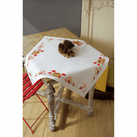 Counted Cross Stitch Tablecloth: Hedgehog & Mushrooms by Vervaco