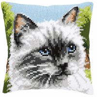 Cross Stitch Kit: Cushion: Siamese Cat by Vervaco