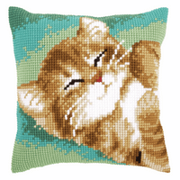 Cross Stitch Kit: Cushion: Cat By Vervaco