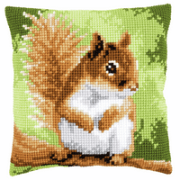 Cross Stitch Cushion Kit: Squirrel By Vervaco