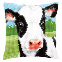 Cross Stitch Kit: Cushion: Cow By Vervaco