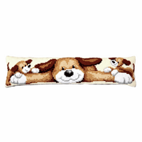 Cross Stitch Kit: Draught Excluder: Playful Dog By Vervaco