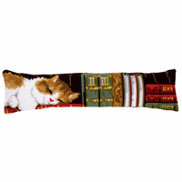 Cross Stitch Kit: Draught Excluder: Cat Sleeping By Vervaco