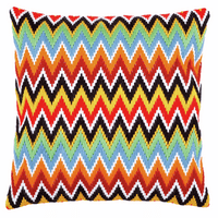Long Stitch Kit: Cushion: Zigzag Lines By Vervaco