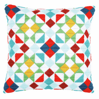 Long Stitch Kit: Cushion: Rhombuses by Vervaco