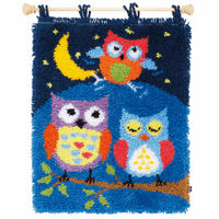 Latch Hook Kit: Rug: Owls in the Night by Vervaco