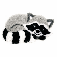 Latch Hook Kit: Shaped Rug: Raccoon by Vervaco