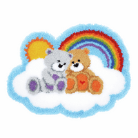 Latch Hook Kit: Rug: Shaped: Care Bears by Vervaco