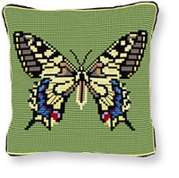 Swallowtail Tapestry cushion kit by Brigantia