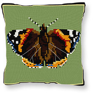 Red Admiral Tapestry cushion kit by Brigantia