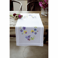 Embroidery Kit: Runner: Pretty Pansies By Vervcao